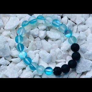 Jewelry - blue moon bead Black lava oil diffuser Bracelet